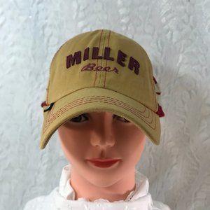Vintage Miller Beer snap back mesh baseball cap